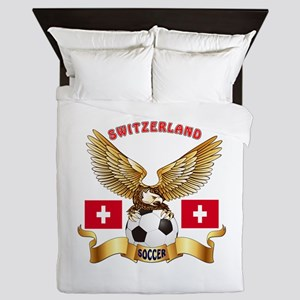Switzerland Football Design Queen Duvet