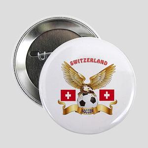 """Switzerland Football Design 2.25"""" Button"""