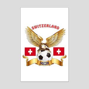 Switzerland Football Design Mini Poster Print
