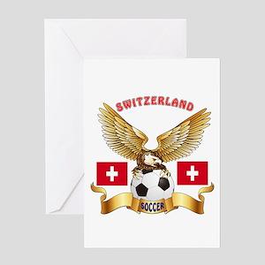 Switzerland Football Design Greeting Card