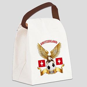Switzerland Football Design Canvas Lunch Bag
