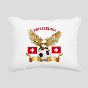 Switzerland Football Design Rectangular Canvas Pil