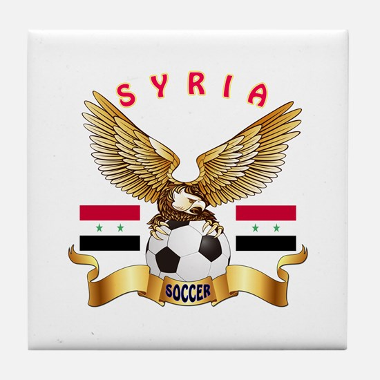 Syria Football Design Tile Coaster