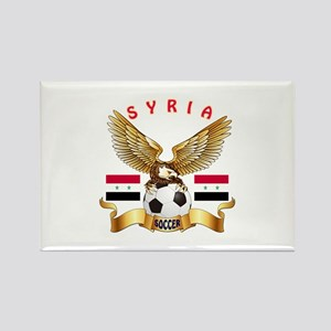 Syria Football Design Rectangle Magnet