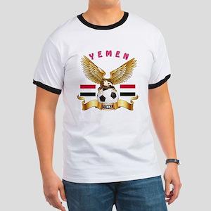 Yemen Football Design Ringer T