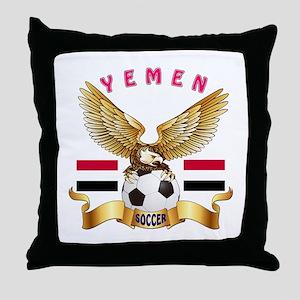 Yemen Football Design Throw Pillow