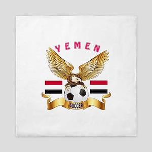 Yemen Football Design Queen Duvet