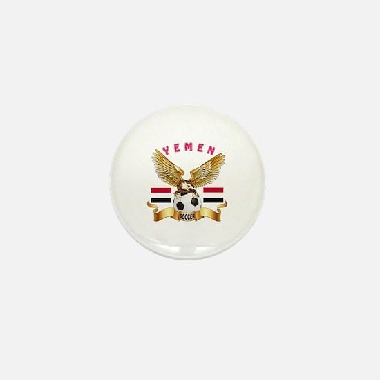 Yemen Football Design Mini Button