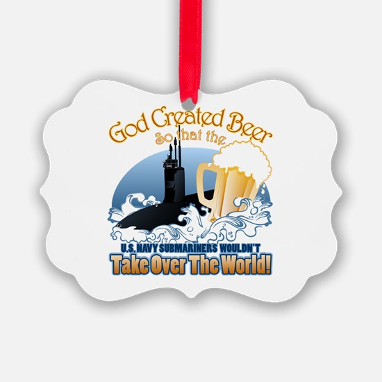 God Created Beer (Submariner) Ornament
