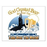 God Created Beer (Submariner) Small Poster