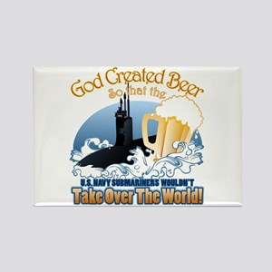 God Created Beer (Submariner) Rectangle Magnet