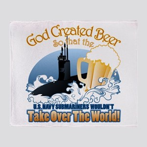 God Created Beer (Submariner) Throw Blanket