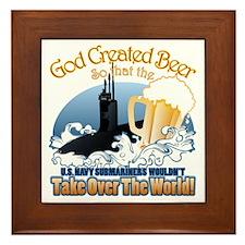 God Created Beer (Submariner) Framed Tile