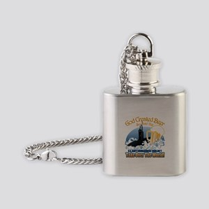 God Created Beer (Submariner) Flask Necklace
