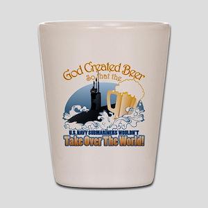 God Created Beer (Submariner) Shot Glass
