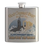 God Created Beer (Submariner) Flask