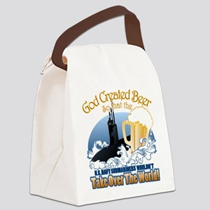 God Created Beer (Submariner) Canvas Lunch Bag