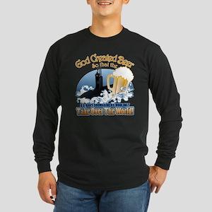 God Created Beer (Submariner) Long Sleeve Dark T-S