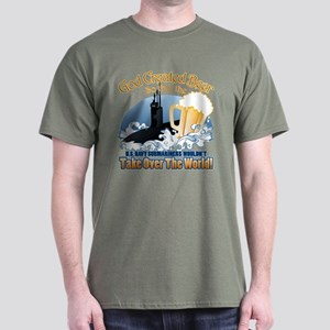 God Created Beer (Submariner) Dark T-Shirt
