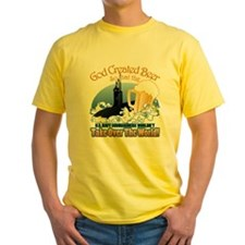 God Created Beer (Submariner) Yellow T-Shirt