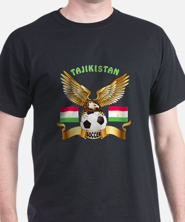 Tajikistan Football Design T-Shirt