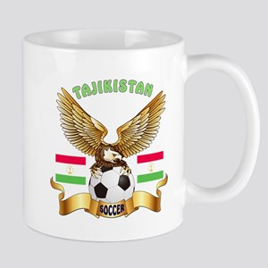 Tajikistan Football Design Mug