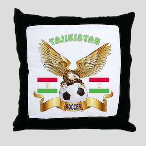 Tajikistan Football Design Throw Pillow