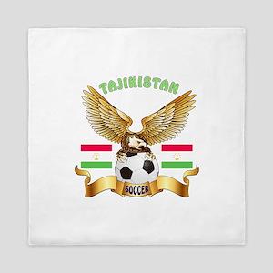 Tajikistan Football Design Queen Duvet