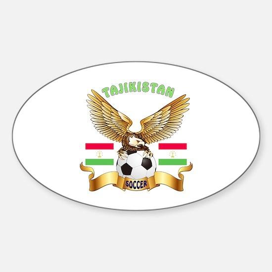 Tajikistan Football Design Sticker (Oval)