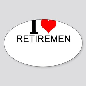 I Love Retirement Sticker