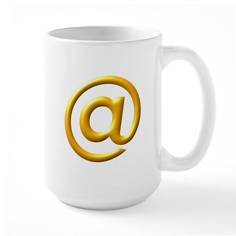 At @ Symbol 3D Design Large Mug
