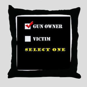 Gun Owner? Throw Pillow