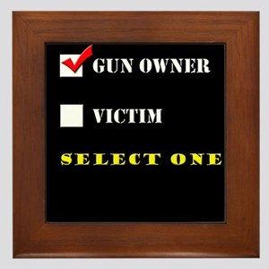 Gun Owner? Framed Tile