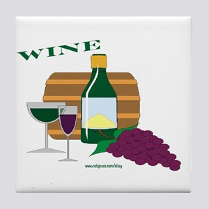 Wine Tile Coaster
