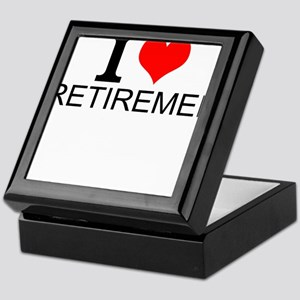 I Love Retirement Keepsake Box