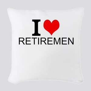 I Love Retirement Woven Throw Pillow