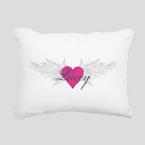 My Sweet Angel Lacey Rectangular Canvas Pillow