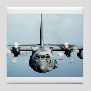 C-130 Spooky Aircraft Tile Coaster