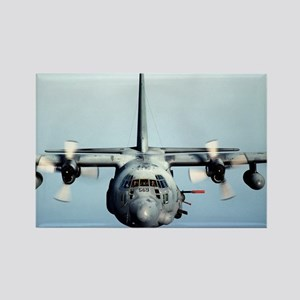 C-130 Spooky Aircraft Rectangle Magnet