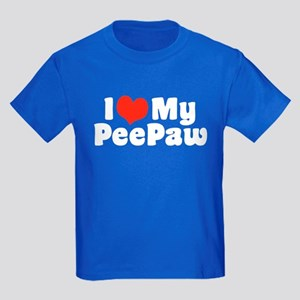 I Love My PeePaw Kids Dark T-Shirt