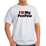 I Love My PeePaw Light T-Shirt