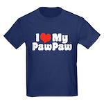 I Love My PawPaw Kids Dark T-Shirt