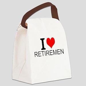 I Love Retirement Canvas Lunch Bag