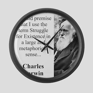 I Should Premise - Charles Darwin Large Wall Clock