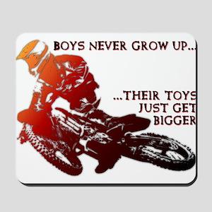 Bigger Toys Dirt Bike Motocross Funny T-Shirt Mous