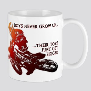 Bigger Toys Dirt Bike Motocross Funny T-Shirt Mug