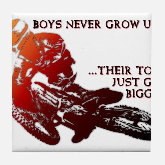 Bigger Toys Dirt Bike Motocross Funny T-Shirt Tile