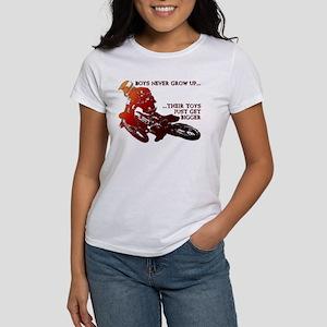 Bigger Toys Dirt Bike Motocross Funny T-Shirt Wome