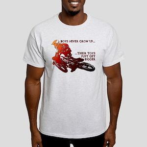 Bigger Toys Dirt Bike Motocross Funny T-Shirt Ligh