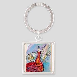 Flamenco dancer, art! Square Keychain